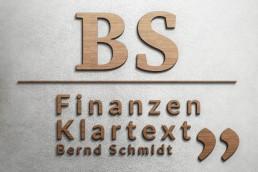 Bernd schmidt Finanzberatung_Broschüre Personal Branding Held Design Logentwicklung 3