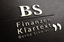 Bernd schmidt Finanzberatung_Broschüre Personal Branding Held Design Logo