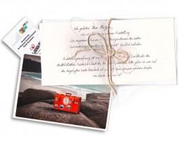 Personalieierte Einladungskarte Ausstellungseröffnung Corporate Design