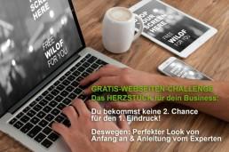 Gratis Challenge Held Design Webseite perfekter Look von Anfang anfür dein Online-Business mit CHI DESIGN