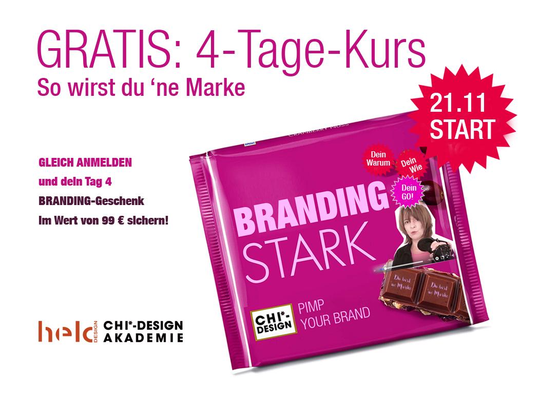 Gratis-KURS 4 TAGE Pimp-Your-Brand + BONUS 99,-