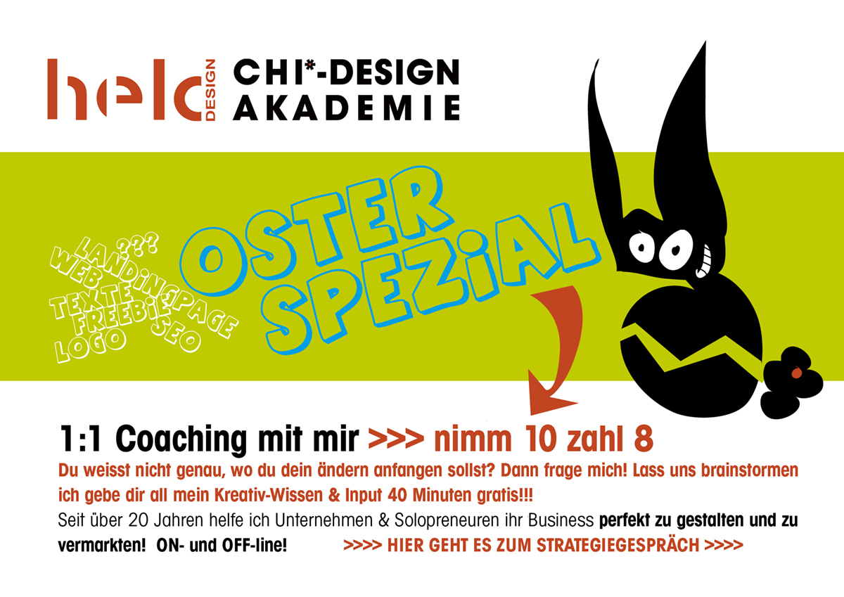 CHI Design Coaching Baustellen beseitigne Webseite Banner Logo und mehr