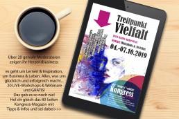 """Der einzigartige """"anders"""" Online-Kongress TREFFPUNKT VIELFALT zum MITMACHEN!"""